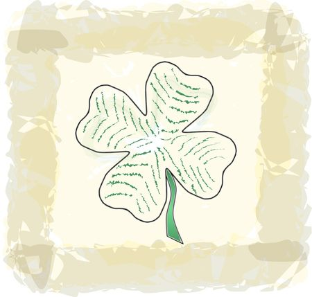 Free Clipart Of A Paddys Day Four Leaf Shamrock Clover