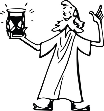 Free Clipart Of A man holding a timer