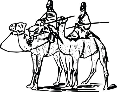 Free Clipart Of men on camels