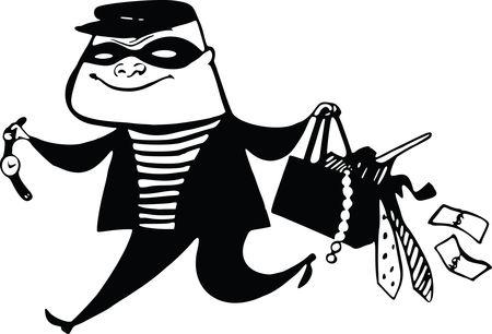 Free Clipart Of A burglar running away