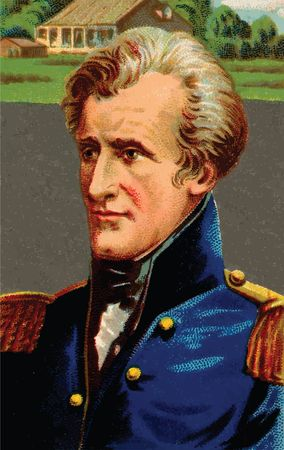Free Clipart Of an Andrew Jackson Cigarette Card