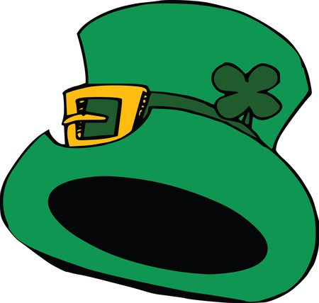 Free Clipart Of A St Patricks Day Leprechaun Hat