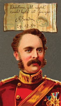 Free Clipart Of a Charles George Gordon Cigarette Card