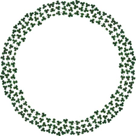Free Clipart Of A round shamrock frame