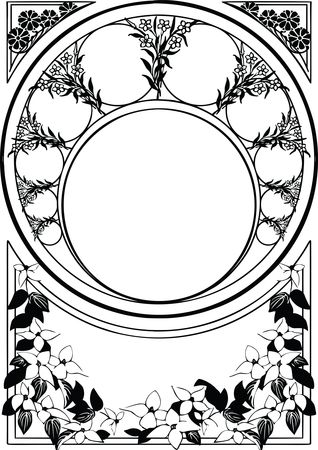 Free Clipart Of a vintage floral Decorative Border