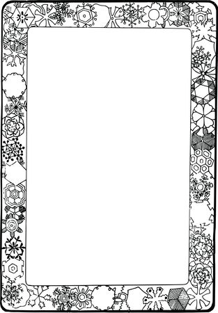 Free Clipart Of a Decorative Border with snowflakes
