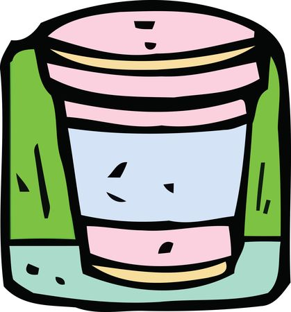 Free Clipart Of A take out coffee cup