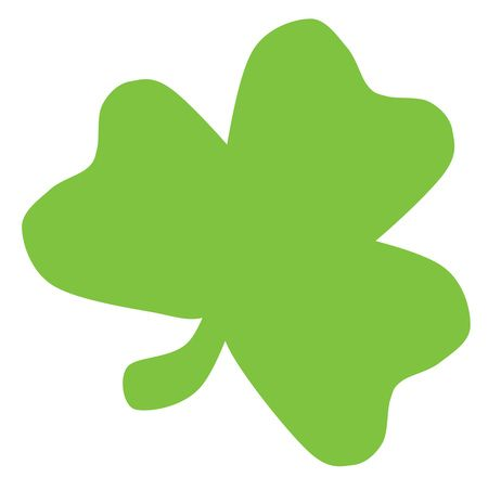Free Clipart Of A Green St Paddy's Day Clover Shamrock