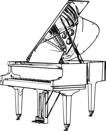 Free Clipart Of A harpsichord flugel