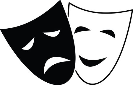 Free Clipart Of theater masks
