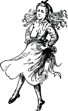 Free Clipart Of a girl dancing
