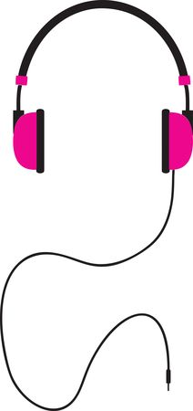 Free Clipart Of A pair of pink headphones