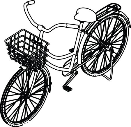 Free Clipart Of A bicycle with a basket