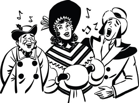 Free Clipart Of A group of christmas carolers
