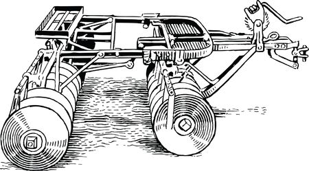 Free Clipart Of a disk harrow