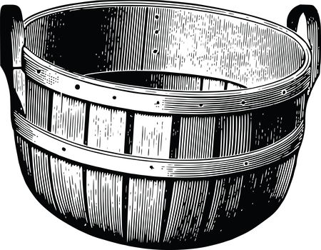 Free Clipart Of A wood bucket