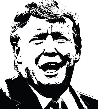Free Clipart of the president of the united states, Donald Trump