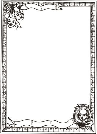 Free Clipart of a shakespeare border