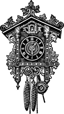 Free Clipart of a cuckoo clock