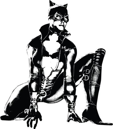 Free Clipart of cat woman