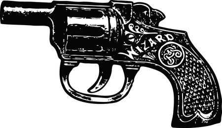 Free Clipart of a pistol