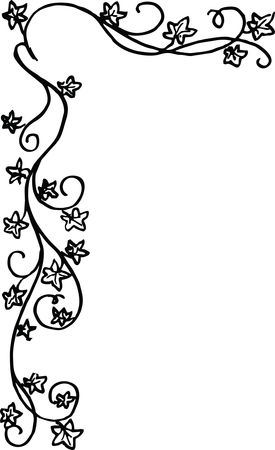 Free Clipart of a floral border