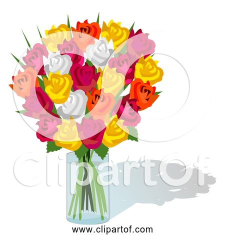 Free Vector Clipart of Colorful Bouquet Of Roses