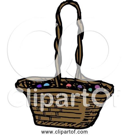 Free Clipart of Easter Egg Basket