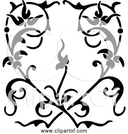 Free Clipart Of Floral Heart