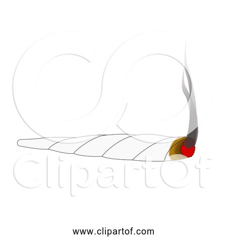 Free Clipart Of Smoking Joint-Cannabis Weed