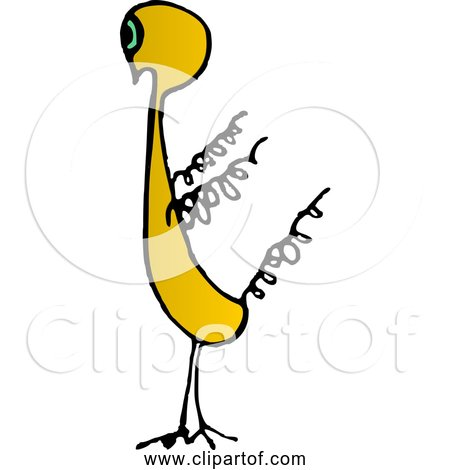 Free Clipart of Cartoon Spring Chicken
