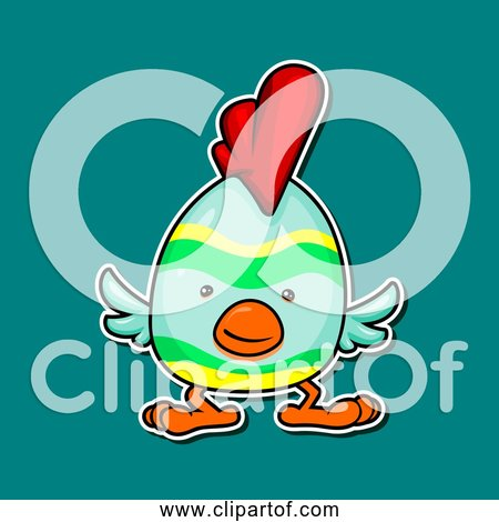 Free Clipart of Cartoon Chicken Easter