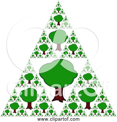 Free Clipart of Triangle Tree Pattern