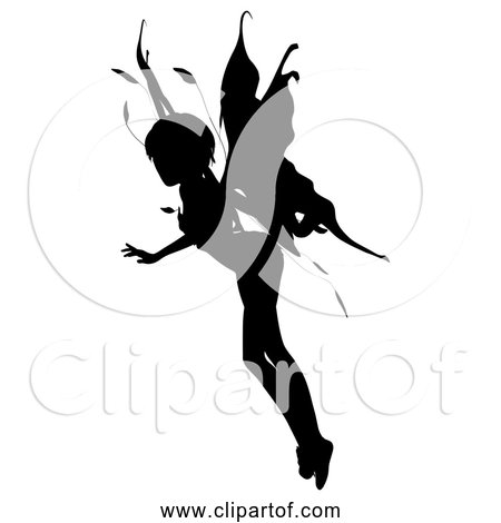 Free Clipart of Female Fairy Silhouette