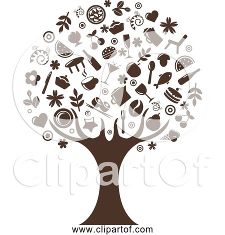 Free Clipart of Abstract Tree - Silhouette