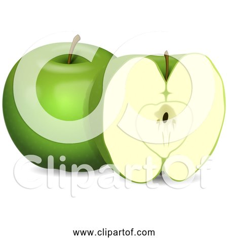 Free Clipart of Green Apples