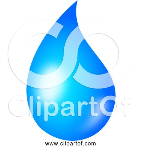 Free Clipart of Water Drop - Shaded Version