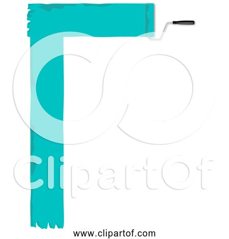 Free Clipart of Paint Roller Border Banner