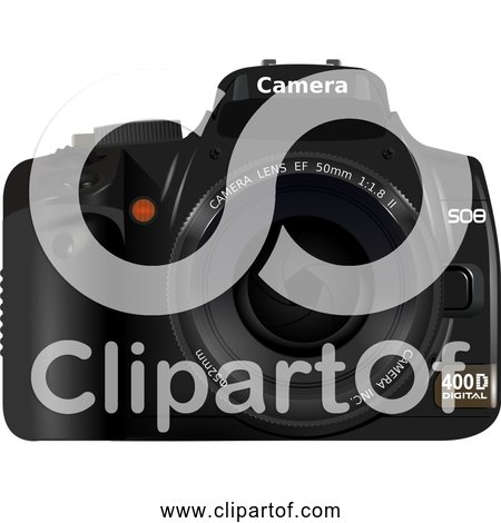 Free Clipart of DSLR Camera