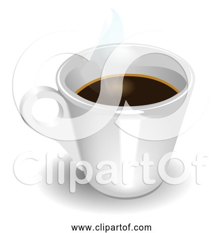 Free Clipart of Espresso in White Cup