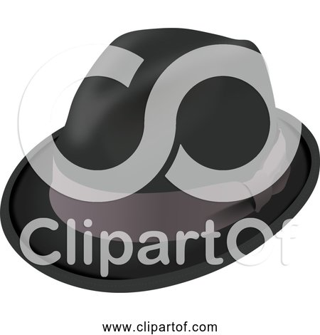 Free Clipart of a Trilby Hat