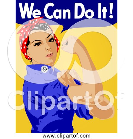 Free Clipart of We Can Do It! Rosie