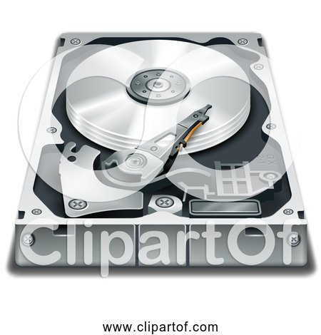 Free Clipart of a Hard Disk Drive Components