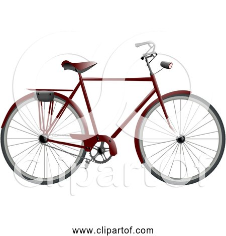 Free Clipart of a Bicycle with Headlight and Storage Rack
