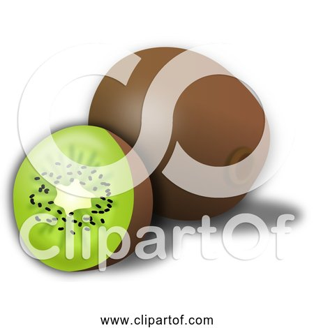 Free Clipart of a Kiwi and Slice
