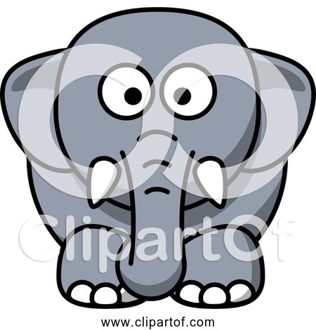 Free Clipart of a Cartoon Elephant