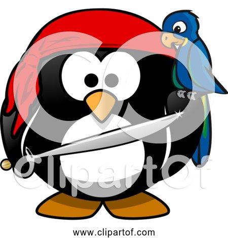 Free Clipart of Cartoon Antarctica Pirate Penguin