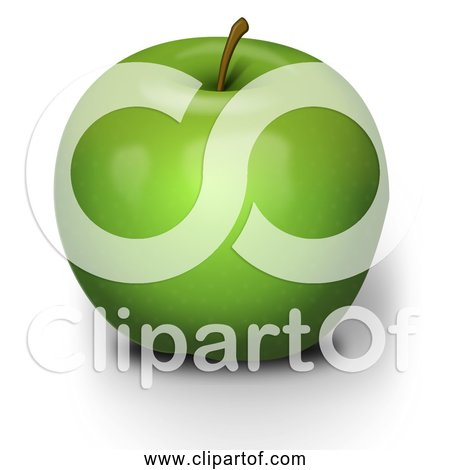 Free Clipart of a Green Apple