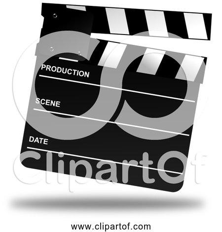 Free Clipart of a Movie Clapper Board