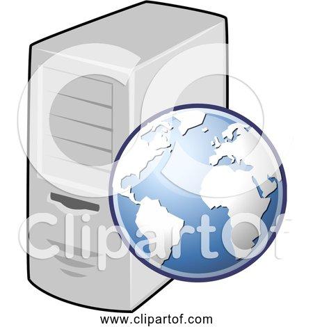 Free Clipart of Web Server Globe